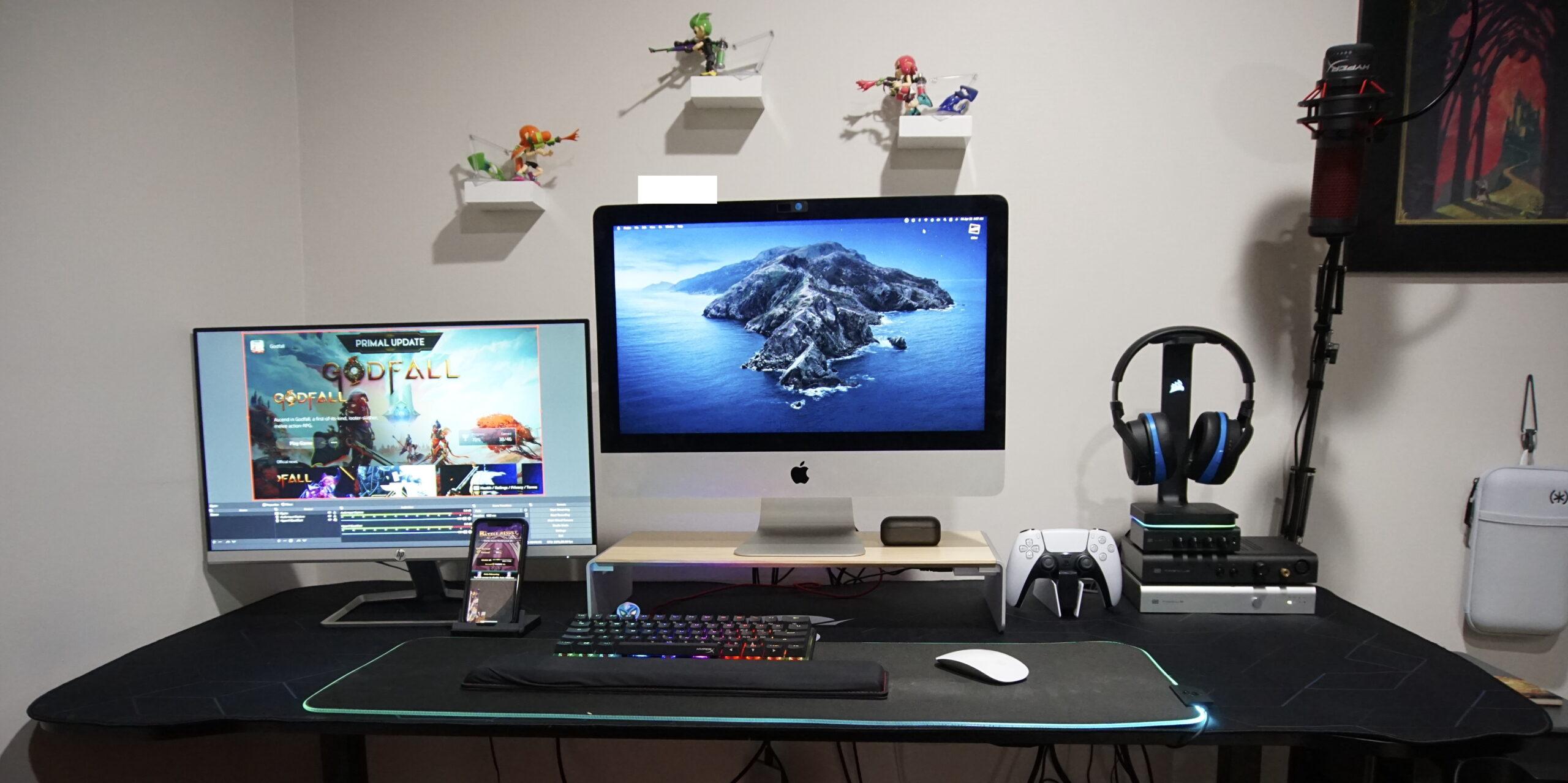 Furniwell 63 inch gaming desk 1