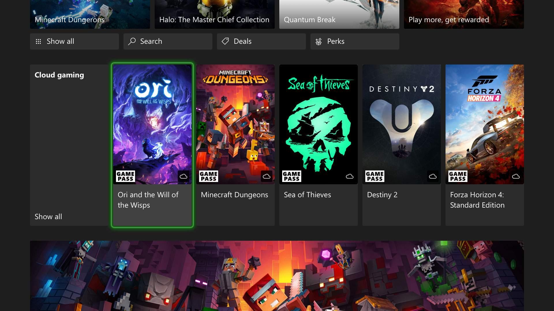 Xbox One Cloud 1